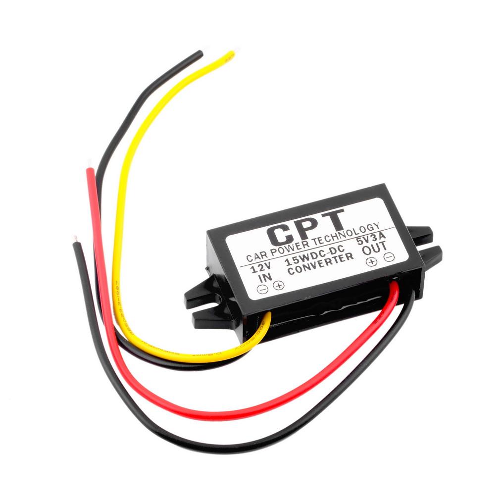 1-ST-CK-DC-DC-Konverter-Regler-12V-nach-5V-3A-15W-Auto-LED-Anzeigen-PowerET