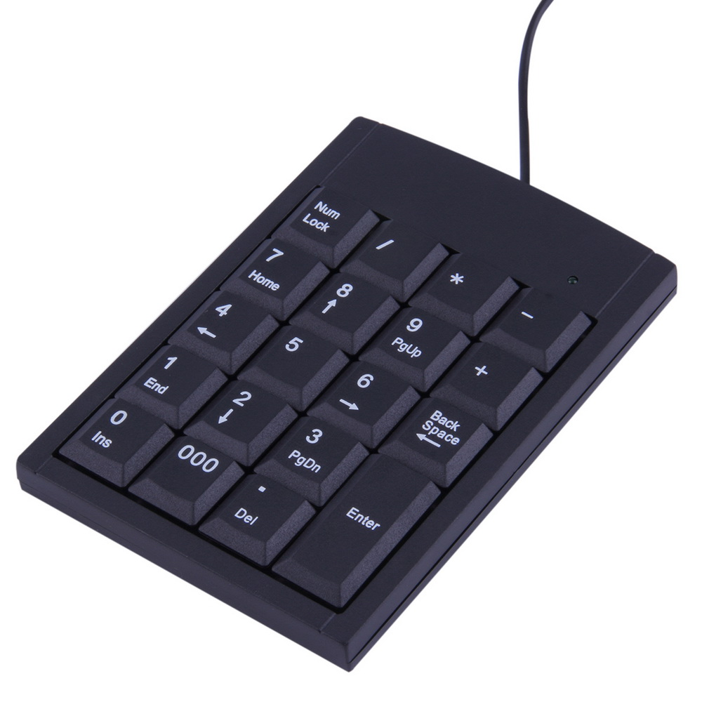 c bl e usb num rique clavier adaptateur 19 boutons pour pc portable noir n4 ebay. Black Bedroom Furniture Sets. Home Design Ideas